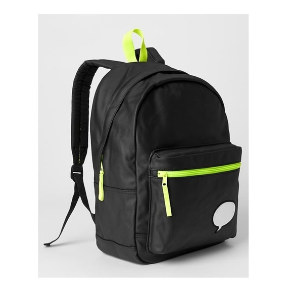 acbf32e9f6d1 GAP Kids Black xED Customizable BACKPACK Full Size
